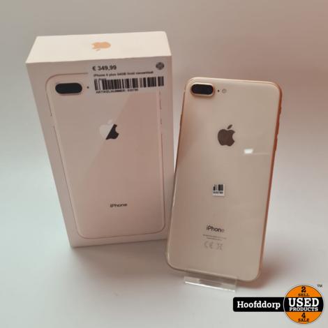 iPhone 8 plus 64GB Gold nette staat in doos