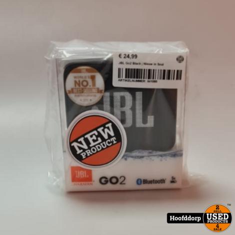 JBL Go2 Black | Nieuw in Seal
