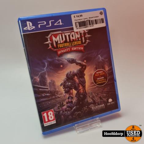 Playstation 4 game : Mutant football league Dynasty edition