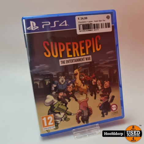 Playstation 4 game : Super Epic The Entertainment War