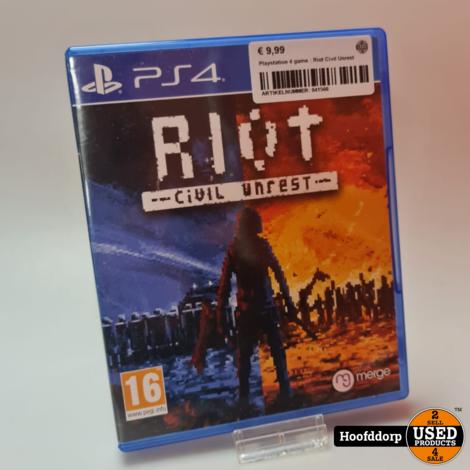 Playstation 4 game : Riot Civil Unrest