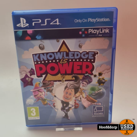 Playstation 4 Game : Knowledge is power