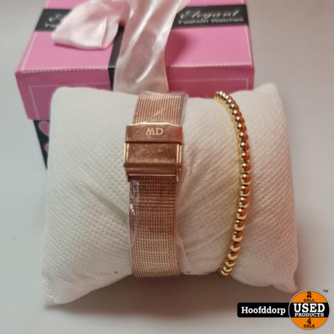 Daniel Wellington 7349 Horloge met armband nieuw in doos Rose Gold