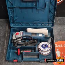 Bosch GWX 13-125 Nieuwstaat compleet in koffer