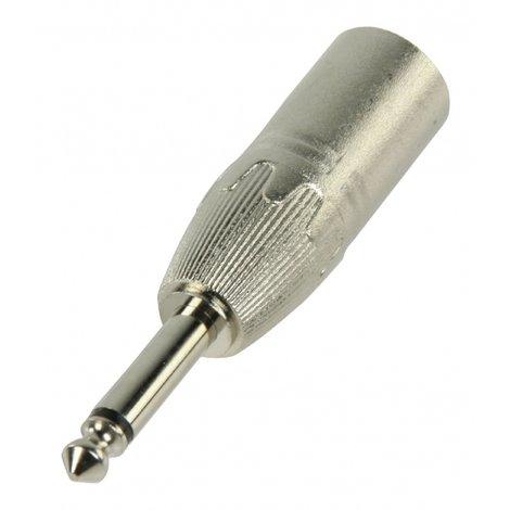 XLR Adapter XLR 3-Pins Male - 6.35 mm Male Zilver