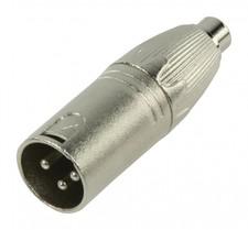 XLR-Adapter XLR 3-Pins Male - RCA Female Zilver