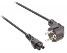 Stroomkabel Schuko gehoekt mannelijk - IEC-320-C5 2,00 m zwart