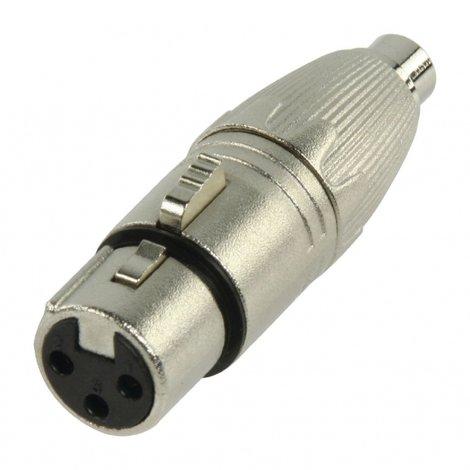 XLR Adapter XLR 3-Pins Female - RCA Female Zilver