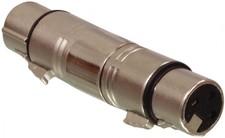 XLR Adapter XLR 3-Pins Female - XLR 3-Pins Female Zilver