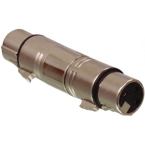 XLR-Adapter XLR 3-Pins Female - XLR 3-Pins Female Zilver
