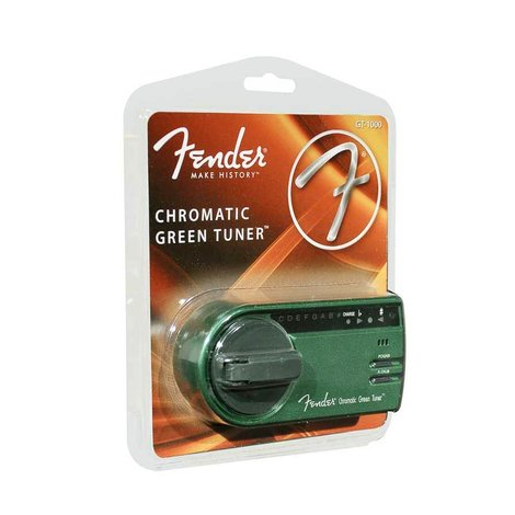 Fender Chromatische GREEN TUNER stemapparaat en zaklamp