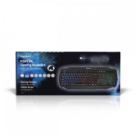 Bedraad Gamingtoetsenbord | USB 2.0 | Zwart