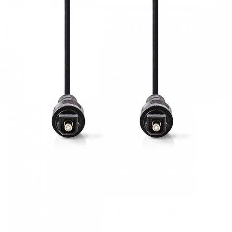 Optische Audiokabel | TosLink Male - TosLink Male | 3,0 m | Zwart