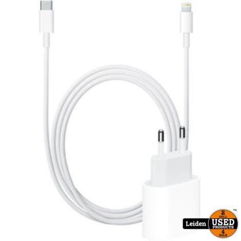 Apple 18W Originele Snellader USB-C + Lightning Kabel (1M)