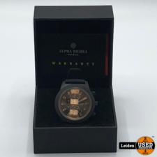 Alpha Sierra Alpha Sierra - Blackhawk - UH60G - Horloge - Siliconen - 48 mm - Zwart - 10 ATM