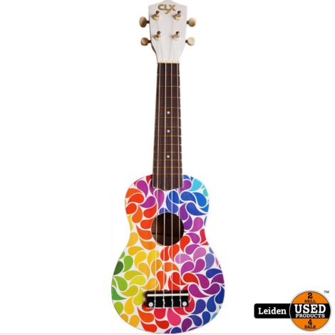 CLXmusic Ukelele (Rainbow Drips)