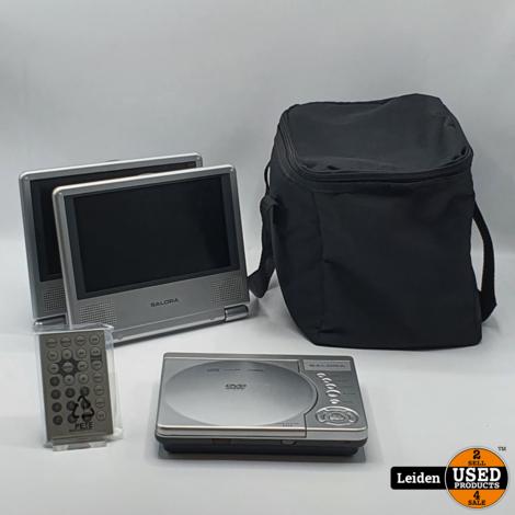 Salora DVP7020 2x7 Portable dvd speler.