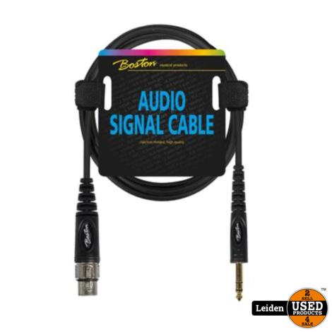 AC-292-300   Boston audio signaalkabel XLR female naar 6.3mm jack stereo, 3 meter