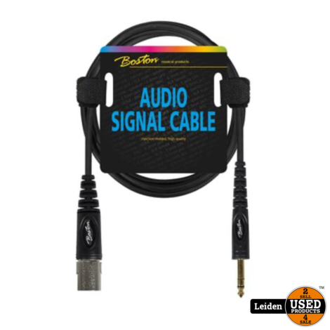 AC-282-300 | Boston audio signaalkabel XLR male naar 6.3mm jack stereo, 3 meter