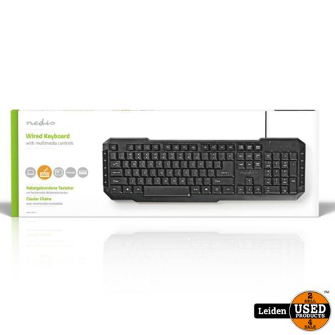 Nedis Wired Keyboard USB | Multimedia keys | US International