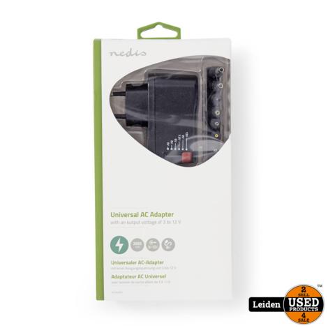 Nedis Universal AC Power Adapter   3/4.5/6/7.5/9/12 VDC   0.7 A - 1.5 A