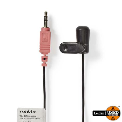 Bedrade Microfoon   Clip-On   3,5 mm   Zwart