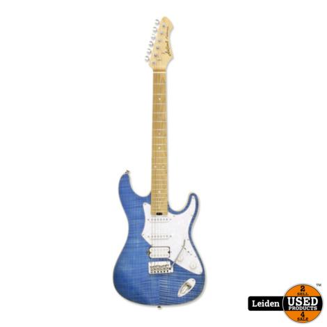 Aria Electric Guitar Turquoise Blue 714-MK2 TQBL