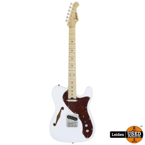 Aria Electric Guitar White 615-TL TTWH