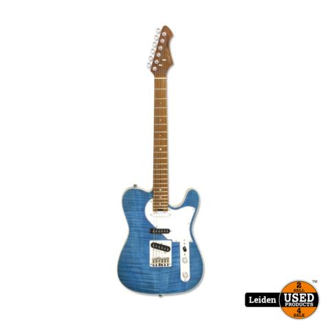 Aria Electric Guitar Turquoise Blue 615-MK2 TQBL