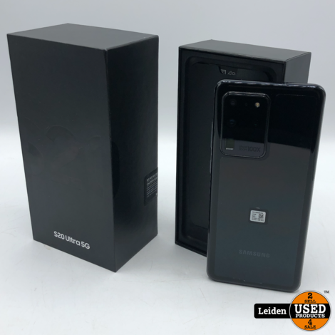 Samsung Galaxy S20 Ultra - 5G - 128GB - Cosmic Black | Nieuw | GRATIS VERZENDING!