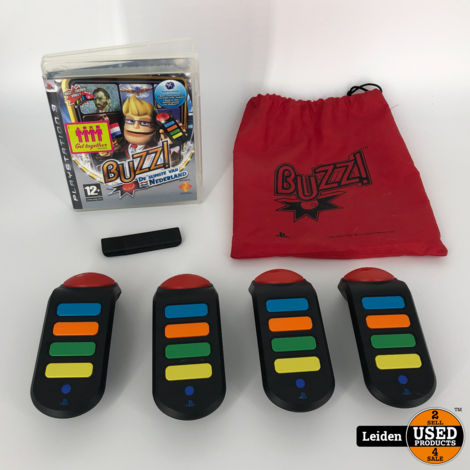Buzz! De Slimste van Nederland + 4 Draadloze Controllers (PS3)