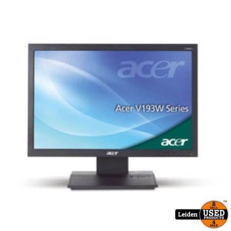 Acer V193WCB 19-inch Monitor - Zwart