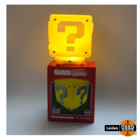 Mario mini lamp vraagteken met coin geluidjes