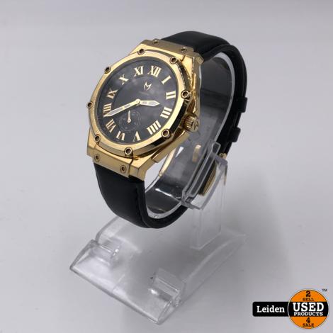 Ambassador Ultra Slim Goud & Zwart – Leer