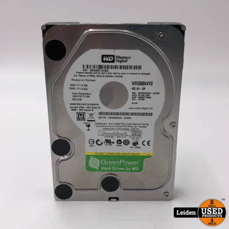 Diverse Hardeschijven 3,5 inch SATA 500GB (prijs = per stuk)