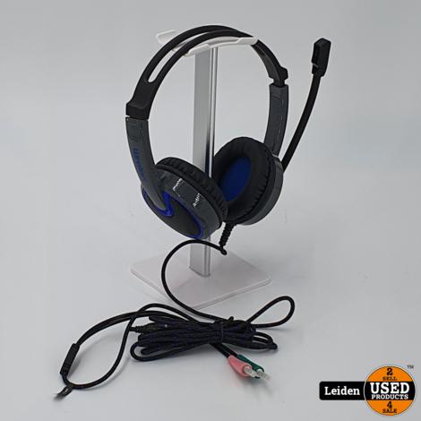 Gaming WRALON over-ear stereo headset - 2x 3,5mm Jack / zwart - 2,2 meter