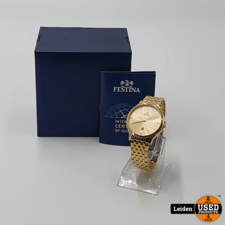 Festina Festina F16746/2 Klassiek - Horloge- Staal - Goudkleurig - 39 mm