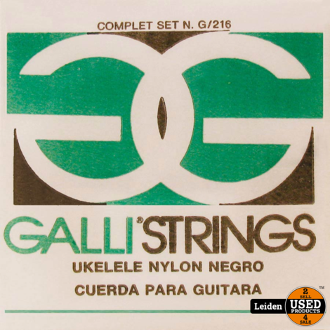 G-216-B | Galli snarenset ukelele - Zwart