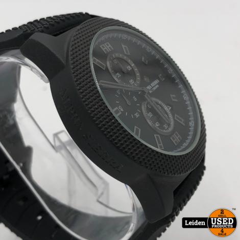 Alpha Sierra - Blackhawk - UH60G - Horloge - Siliconen - 48 mm - Zwart - 10 ATM