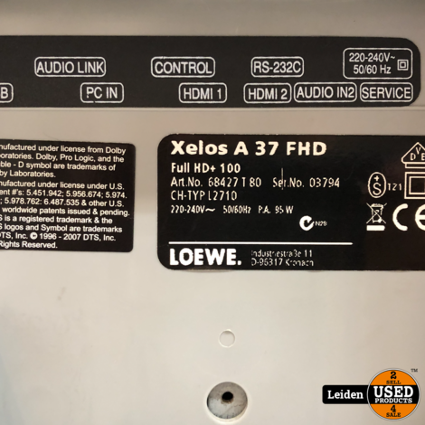 Loewe Xelos A 37 Full HD Televisie