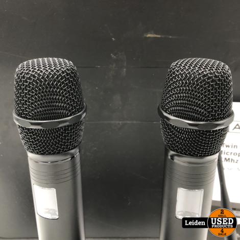 W Audio RM 30T 2-kanaals UHF Draadloos Microfoonsysteem