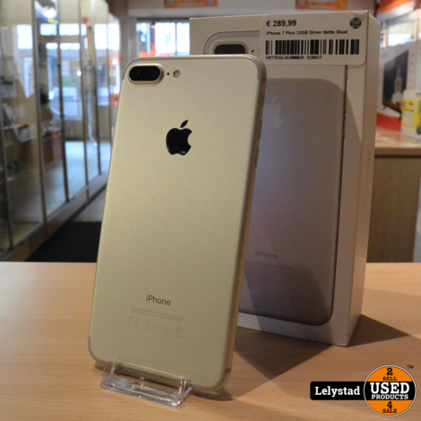 iPhone 7 Plus 32GB Silver Nette Staat