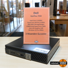 Dell Optiplex 7050 Micro PC 8GB Ram 128GB SSD
