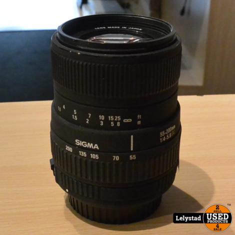 Sigma 55-200MM 1:4-5.6DC Lens Canon