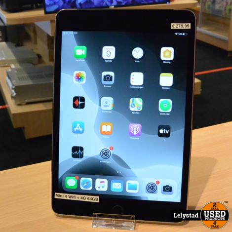 iPad Mini 4 64GB Wifi + 4G | In Nette Staat