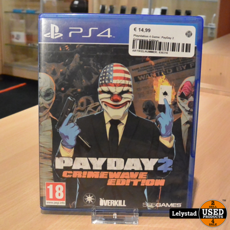 Playstation 4 Game: PayDay 2 Crimewave Edition