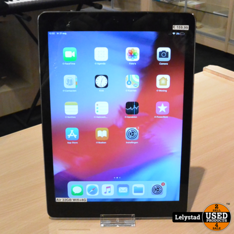 iPad Air 32GB Wifi+4G Space Gray | In redelijke staat