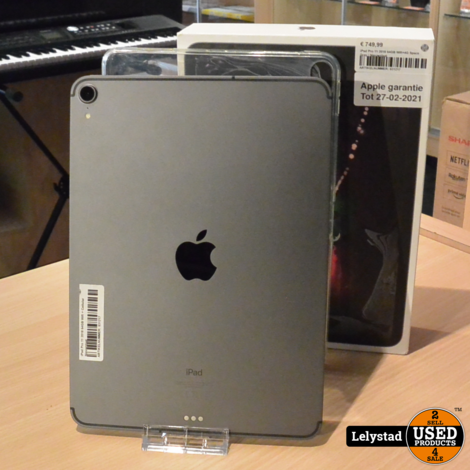 iPad Pro 11 2018 64GB Wifi+4G Space Gray | Nieuwstaat