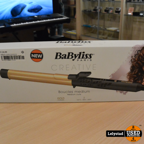 BaByliss Creative Keramische Krultang Gold C425E krultang | Nieuw