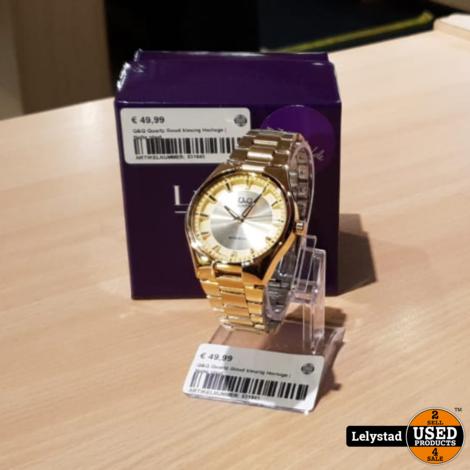 Q&Q Quartz Goud kleurig Horloge | Nette staat